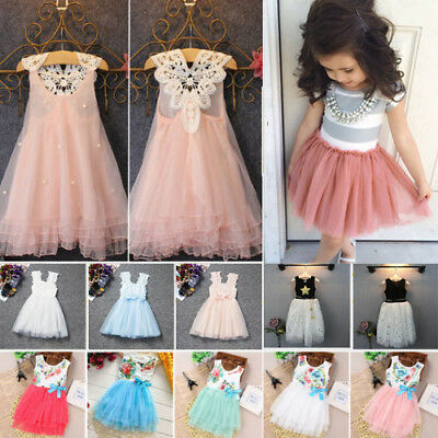 Flower Girls Princess Tutu Dress Party Wedding Pageant Formal Dresses Clothes