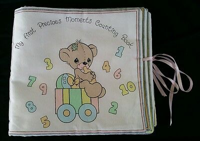 My first Precious Moments Counting Train Book Cloth Rare Collector Item Mint