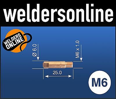 UNI-MIG M6 Welding Contact Tips (Multiple Qualities & Sizes) PCT0008 unimig