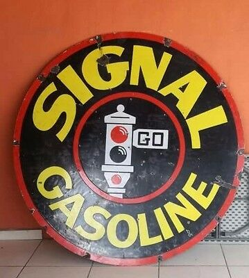 "Signal Gasoline Porcelain 72"" Sign"