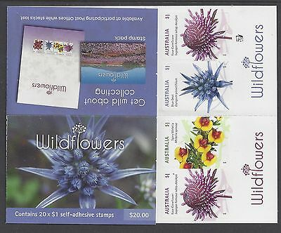 Australia 2017 Wildflowers booklet of 20 Stamps (Reprint 1 Koala)