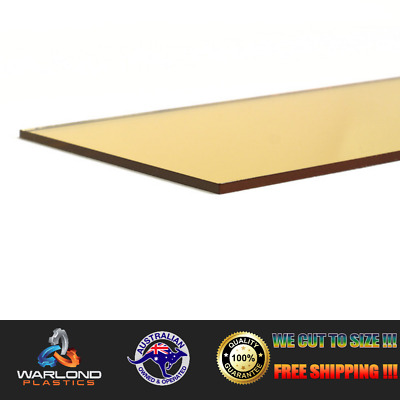 Gold Mirror Perspex® Acrylic Sheet – Select Your Size – Free Postage!!!
