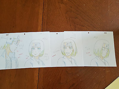 SET of NARUTO Shippuden Obito and Rin Genga Douga sketches, not Cel, Anime Art