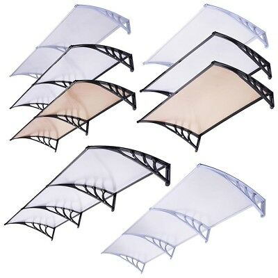 Front Door Window Canopy Porch Rain Awning Shade Roof Shelter Size Opt INCD VAT
