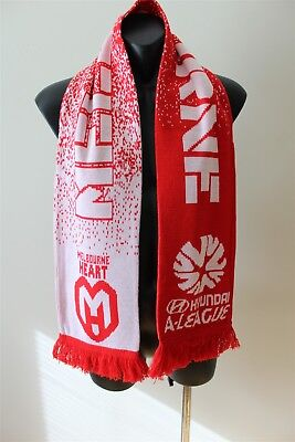 Melbourne Heart Football Club Soccer A League Scarf In Good Condition