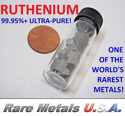 Ruthenium: 10 Grams Pure 99.95%+ | 44 Platinum Group Fragments | Rare Metals Usa