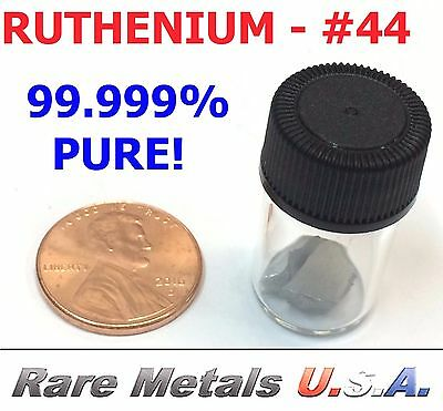 RUTHENIUM: 5.0 GRAM 5g ULTRA PURE 99.999% | SAMPLE PGM CHUNKS | RARE METALS USA!
