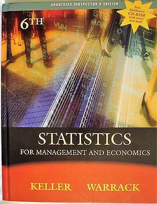 keller statistics for management and economics pdf