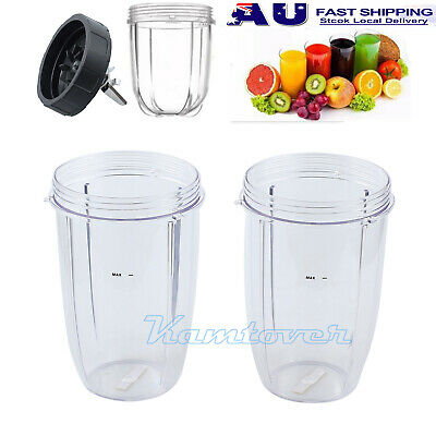 2x Juicer Accessories Blenders Cups For NutriBullet Spare Parts 32OZ  600 & 900W
