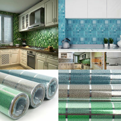 45x200cm Self-adhesive Kitchen Roll Anti-Oil Foil Stickers Kitchen Wall Paper AU