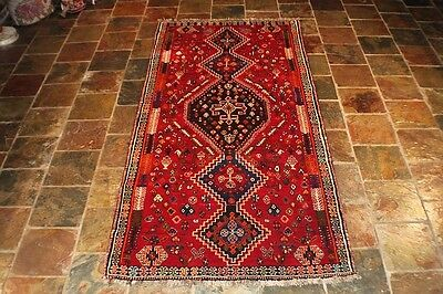 260X121 Genuine Handknotted Tribal  Persian Rug Carpet Runner Thick Pile