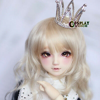 Pretty 1/3 1/4 BJD Dollfie Diamond Crown Jewelry SD DOD Blythe Hair Clips