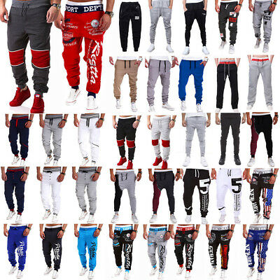 Men Sports Sweats Pants Jogger Baggy Harem Trousers Tracks Slacks Gym Activewear
