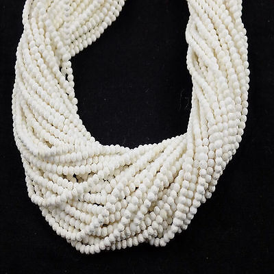 """5 Strand Howlite Rondelle Approx 2.80mm Micro Faceted Gemstone Beads 13"""" Long"""