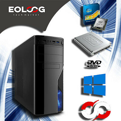 PC FISSO COMPUTER DESKTOP INTEL CORE i7  SSD 120GB  HDD 1TB  RAM 8GB - Wi-Fi