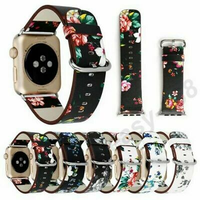 Genuine Leather Band Strap Bracelet Watchband For Apple Watch 1/2 38mm/42mm