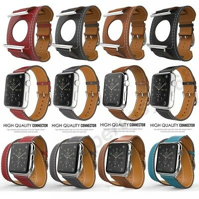 Genuine Leather Band Strap Bracelet Watchband For Apple Watch 1/2 38mm/42mm New