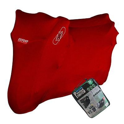 Oxford CV175 Protex Stretch Motorcycle Breathable Dust Cover Red Medium