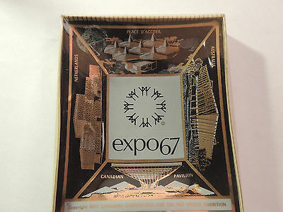 Expo 67 Glass Dish over 4x3 inches Canadian Corp original package (12540)