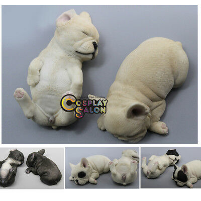 A Pair of Baby Dog 1/6 Dollfie French Bulldog BJD Accessories Car Decorations