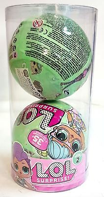 Pack of 2 LOL Surprise Lil Outrageous Littles Series 2 Style 2 - Original Ball