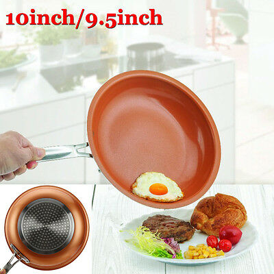 UK Pro Copper Frying Pan Non Stick Ceramic Induction Induction Cooking Oven Safe