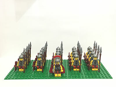 Roman Army Fighters Commander Minifigs Romans base plate & Lego Brick Separator