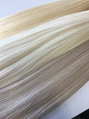 "Russian Remy Hair Extensions stick mini Flat Tip Double Drawn 18/20"" upto 1yr"