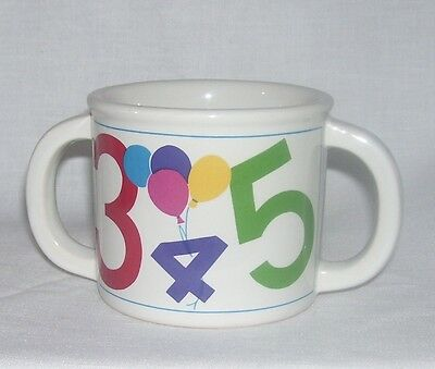 EPOCH~ Korea ~ COUNT TO TEN ~ Double Handle Childs Cup Mug  ~ Free Shipping