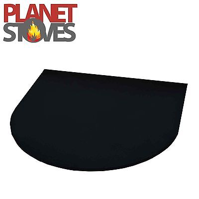 Black Granite 30mm Half Moon Hearth For Wood Burning Multifuel Stoves 750 x 900