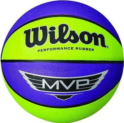 Wilson MVP Camp Purple/Lime Basketball - Outdoor Youth Ladies Practice Training