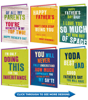 Funny Fathers Father's Day Card Dad Daddy Amusing Humour Cheeky Witty Joke Cool