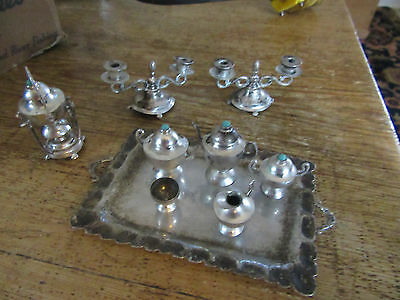 sterling silver miniature childs tea set heco en mexico