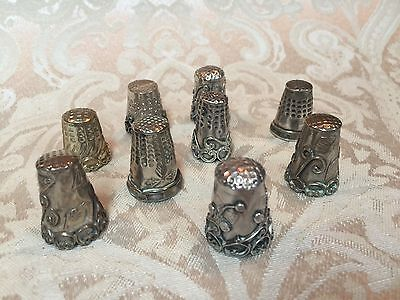 VTG MEXICAN STERLING SILVER THIMBLES - Lot of 9 - RARE GROUP!