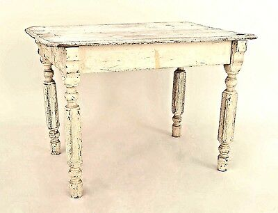 American Country Victorian Style (19th Cent.) Antique White Pine Dining Table