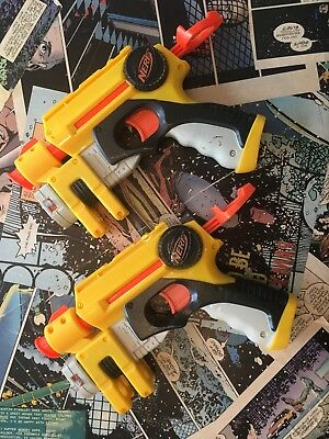 2 X Nerf Hand Cannon Blasters - Used - Tested And Working