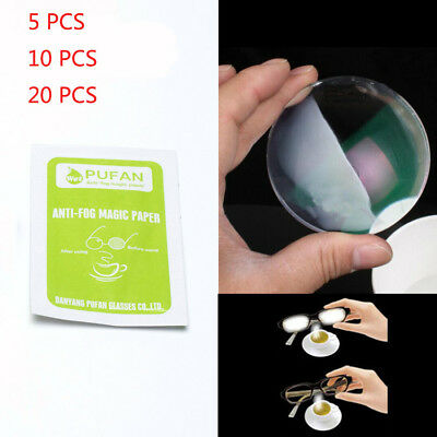 Disposable Anti Fog Wet Paper Cloth / Wipes For The Eye Glasses Lens Nice