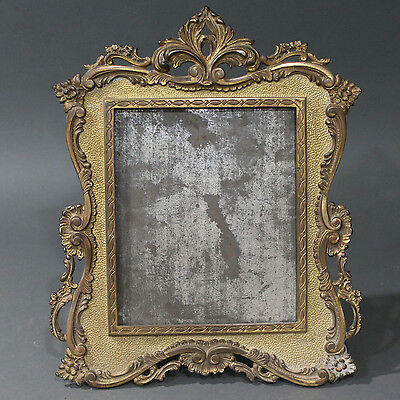 Antique Victorian National Brass and Iron Works Co. Gilded Picture Mirror Frame