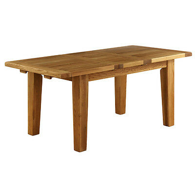 Genuine Solid Oak Extending Dining Table / Kitchen Table Chunky Oak