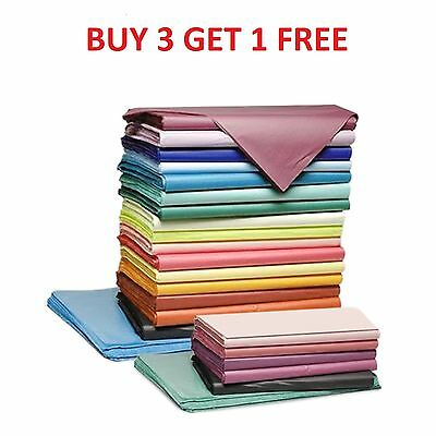 5 Sheets Of Coloured Tissue Paper Acid Free 750mm x 500mm Quality Gift Wrapping