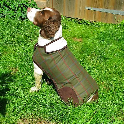 Rosewood Options Tweed Country Style 'Waterproof' Dog Coat Fur lined (S M L)