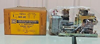 Square D Class 9050 Type B0-2E A/C Pneumatic Timing Relay