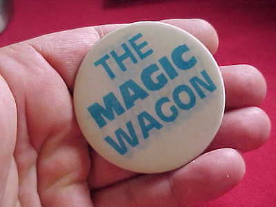 Vintage 1980's Plymouth Voyager The Magic Wagon Flasher Button Celluloid Pinback
