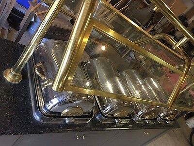 Serving Buffet 4 Chafers Commercial Restaurant Granite top