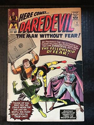 """Daredevil #6 """"The Fellowship of Fear!"""" Awesome VG+ Condition!!"""