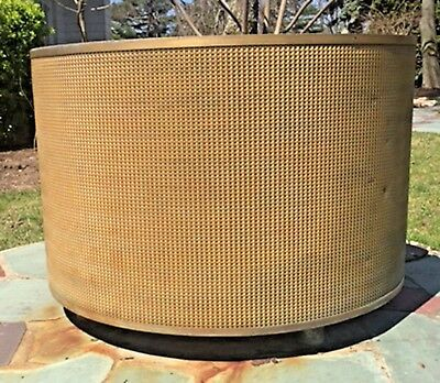 American Art Deco Large Outdoor Round Woven Design Bronze Planter