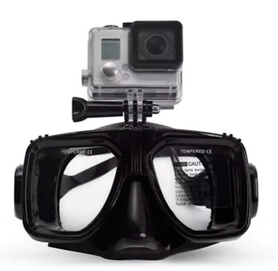 Goggles Diving Swimming Scuba for GoPro Tempered Glass Mask Action Camera Mount