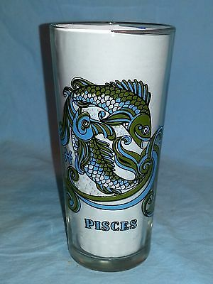 1976 Arby's Pisces (Fishes) Zodiac Horoscope Glass / Tumbler, Vintage