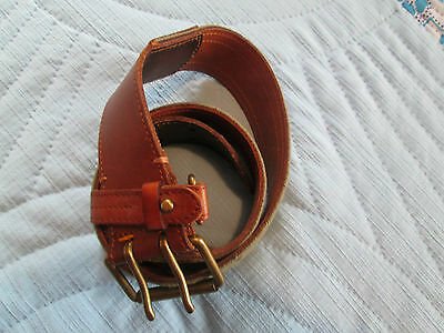 Vintage Ralph Lauren Rugby Leather/Canvas Belt #41381 Size M