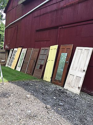 Lot Of 8 Vintage Solid Wood Doors Plus A French Door